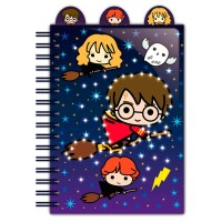 Harry Potter - Quaderno A5 Luminoso Chibi Cartoon - Ufficiale © Warner Bros