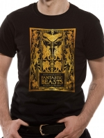 Animali Fantastici - T-Shirt Gold Foil Book Cover - Prodotto Ufficiale Warner bros.