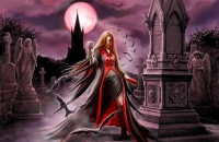 Anne Stokes - Quadro in Tela - Blood Moon