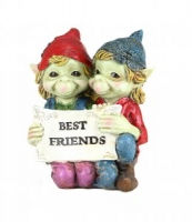 Folletti - Pixies Best Friends - Resina - Dipinto a mano - 027 170224