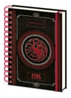 Game of Thrones - Quaderno Spirale Targaryen - Prodotto Ufficiale HBO