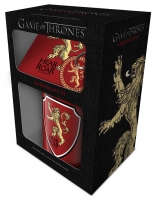 Game of Thrones - Set Lannister - Tazza + sottobicchiere + Portachiave - Prodotto Ufficiale HBO