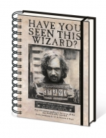 Harry Potter - Quaderno a Spirale - Wanted Sirius Black - A5 - Prodotto ufficiale Warner Bors,